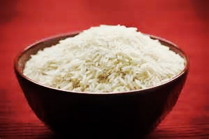 A bowl of rice, yum!
