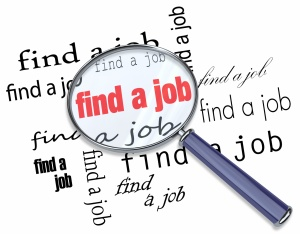 Find a Job - Magnifying Glass on Words